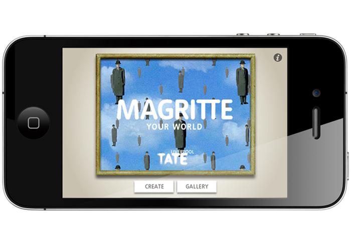 Magritte Your World, App, fun gadget, video app, Tate