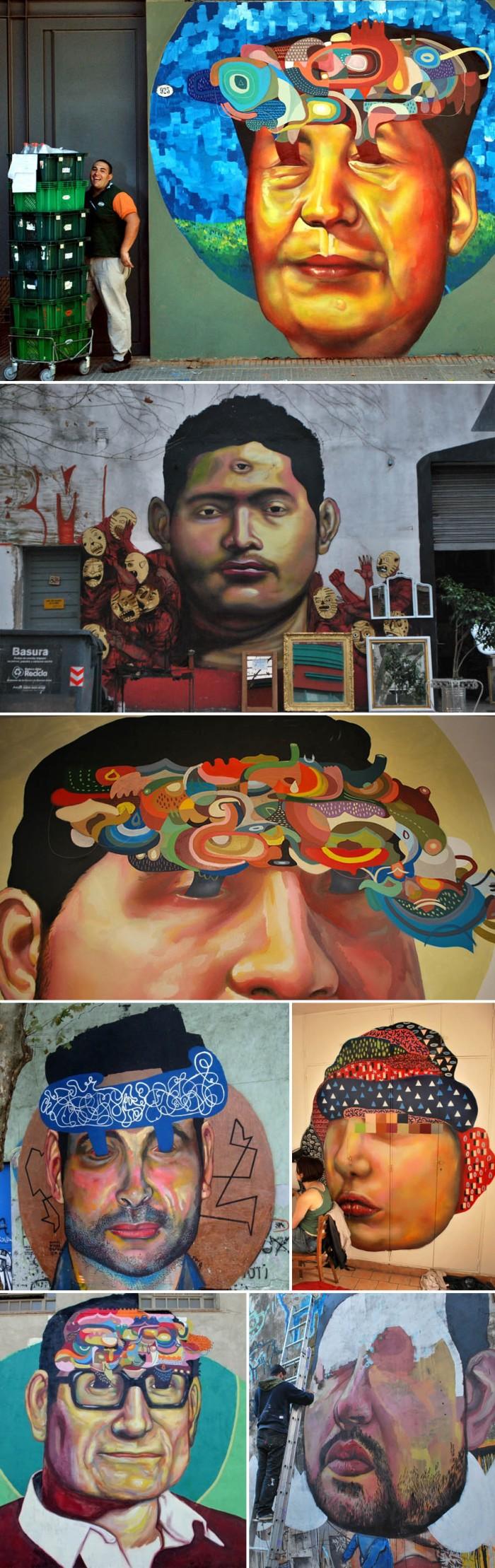 Graffiti, Ever, Siempre, Argentina, murals, portraits, street art