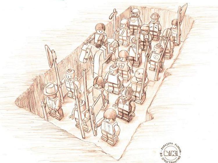 Lego Armee Entwurf von Planet Streetpainting