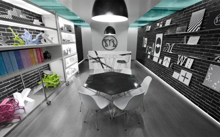 interior design, branding, print shop, Mexico, typography