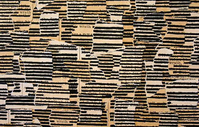 book text collages, redacted text, someguy, Brian Singer