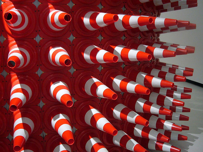 Traffic Cone Art, Teddy Cruz, Rome, Maxxi