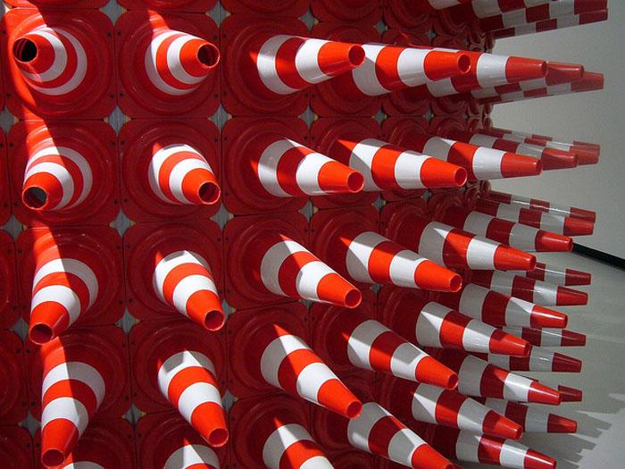 Traffic Cone Art, Teddy Cruz, Rome, Maxxi