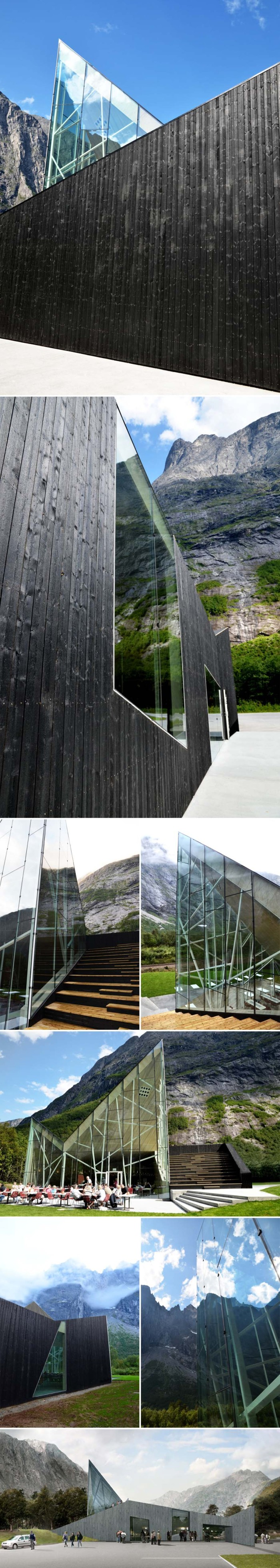 Restaurant design, contemporary architecture, Reiulf Ramstad, Norway, glass facade