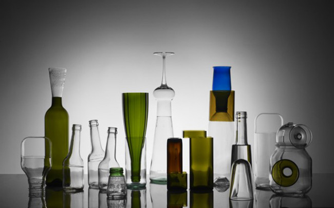 Glassware, contemporary combined with traditional, Italian, Antonio Cos, collabcubed