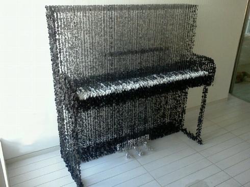 buttons, sculptures, Art Basel Miami, Augusto Esquivel, piano, contemporary art, cool