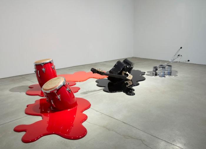 Contemporary Cuban Art, Humor, Sculpture, instruments, quartet, Sean Kelly