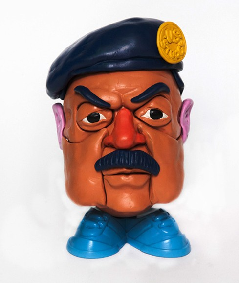 Saddam Hussain, Mr. Potato Head, Dictators, Sculpture, Australian Contmporary Art