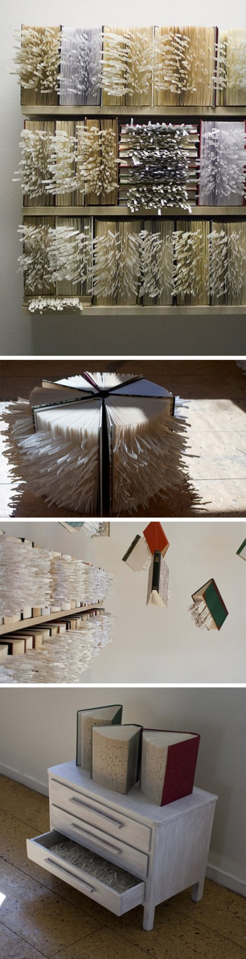 Book art, text, collage, contemporary sculpture, Iceland, Reykyavik, Weird Girls project