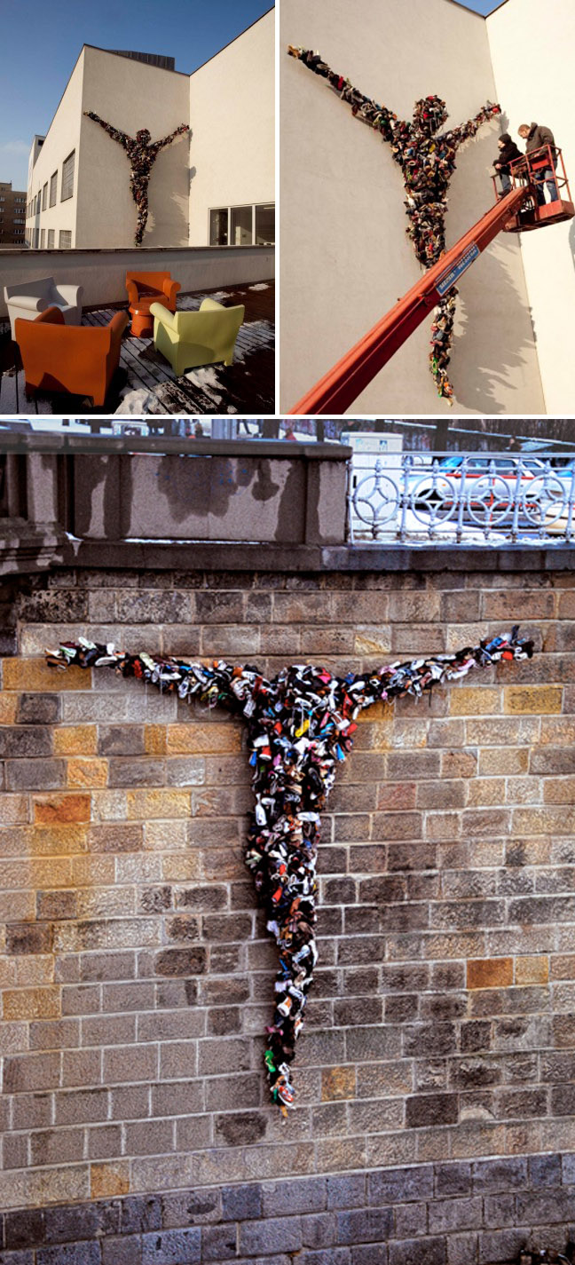 DOX Center for Contemporary Art, Prague, Sculpture, shoes, Christ, crucifix