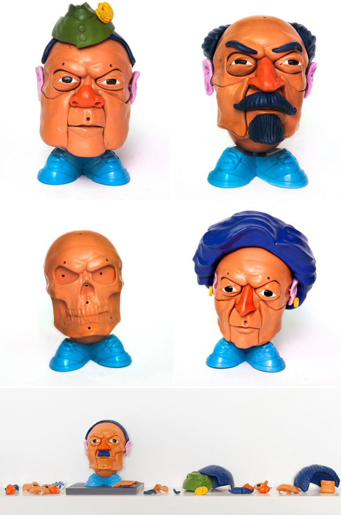Amin, Lenin, Hitler, Mr. Potato Head, Dictators, Sculpture, Australian Contemporary Art