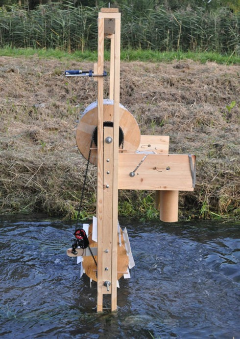 sculpture, avant garde art, diy, music machine, watermill, Warsaw, interactive