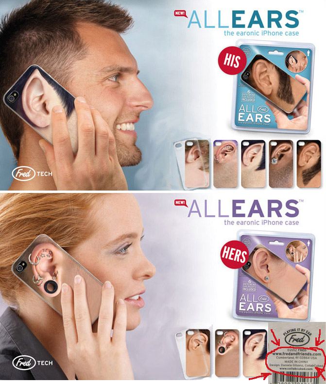 All Ears iPhone Cases, Fred, EARonic, collabcubed, fun gift, goofy, silly