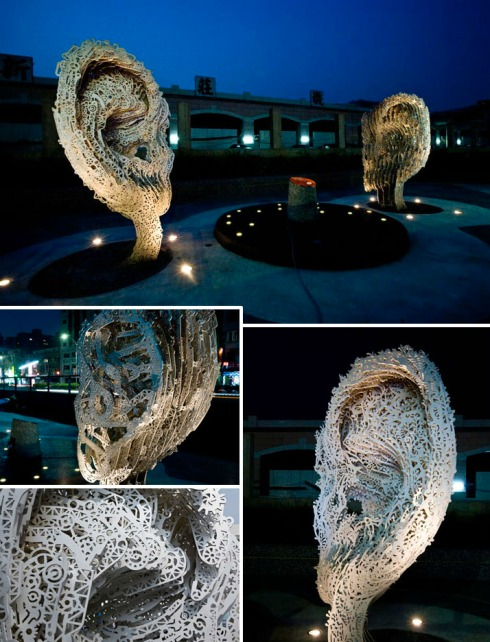 interactive sculpture, interactive installation, contemporary art Taiwan, Listening, Public Art