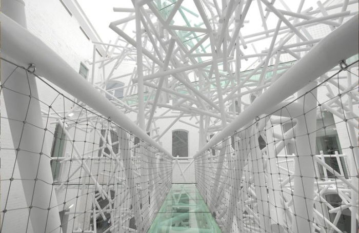 cool installation, 5-story sculpture, Custard Factory, England, collabcubed