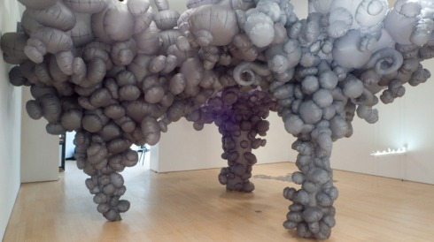 contemporary art installations, balloons, fabric sculpture, Lee Boroson