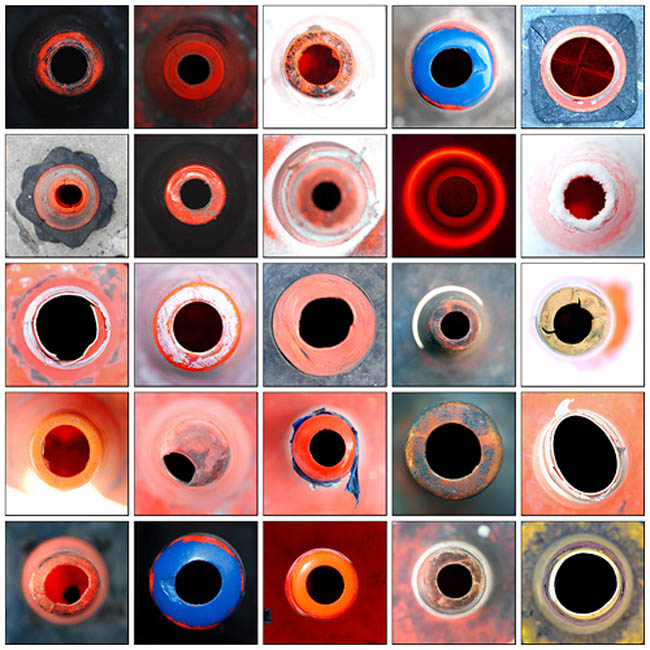 Koan Grids, Peter Emerick, Photographs of traffic cones, traffic cone art, collabcubed