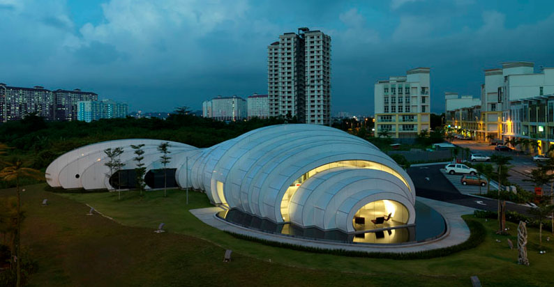 Pod Exhibition Pavilion Studio Nicoletti Collabcubed