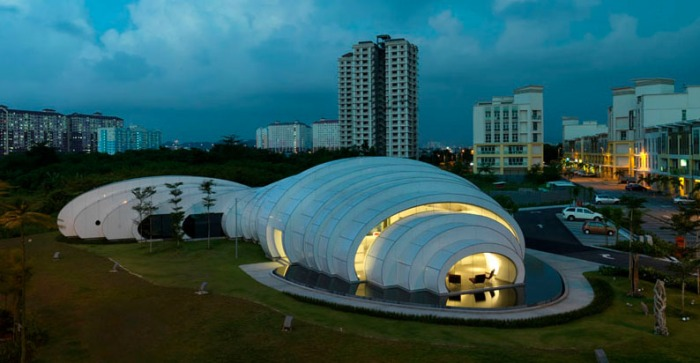 Pod Exhibition Pavilion, 2011 architecture, Studio Nicoletti and Hijjas Kasturi, Malaysia