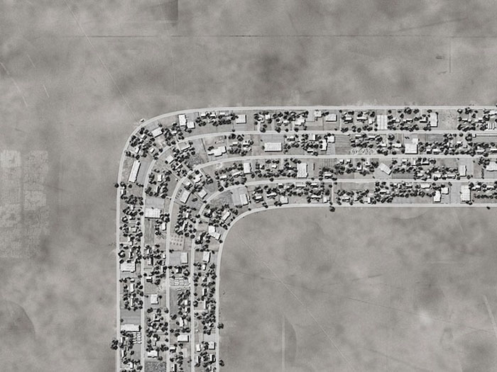 Aerial Views of Fictional suburbs, freehand digital drawings, Ross Racine, maps, art