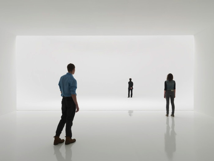 Light art installation, infinity space, cool installation, cool art, Doug Wheeler, NYC, 2012