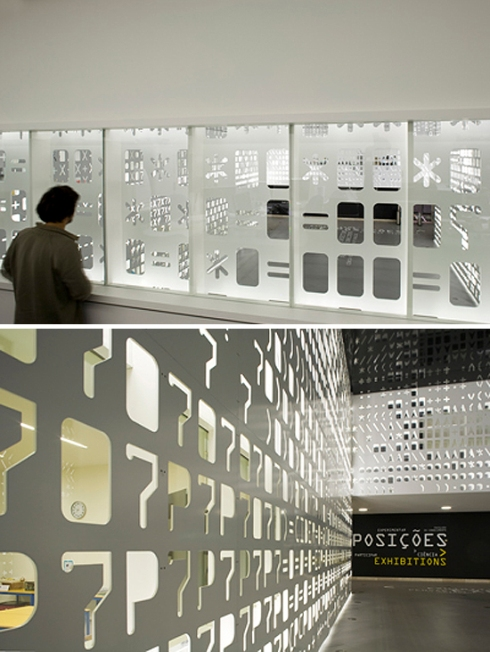 Pavilion of Knowledge, enviornmental graphics, Lisbon, P-06 Atelier, typography, installation