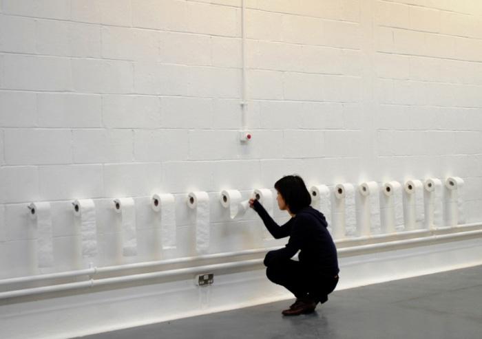 Toilet Paper Art, Conceptual Art, Social classes, Marxism, Consumerism
