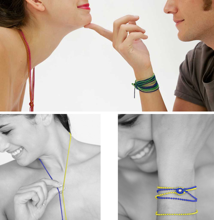 necklaces, bracelets, chains, magnetic jewelry, fun, playful, Uno Magnetic, Luis Pons