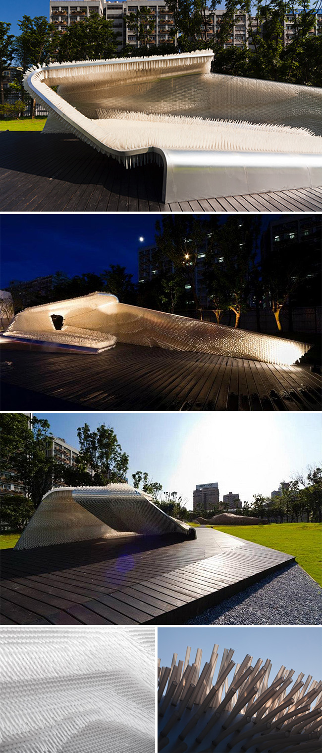 Architectural Installation, tactile, Taipei, Taiwan 2011, cool structure, interactive