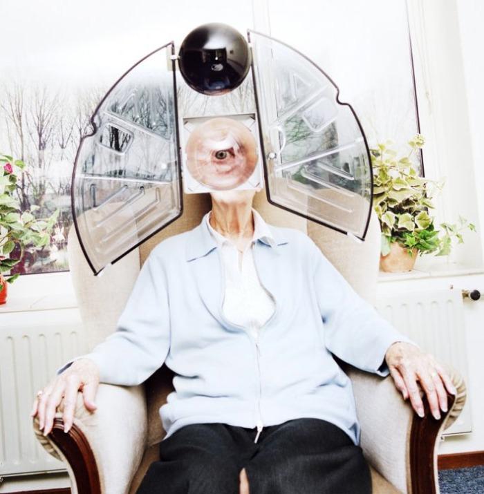 Photographs, Industrial design, contraptions, sculpture, robots, elderly, collabcubed