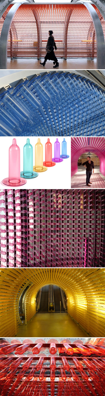 art installation, Pompidou Center, Bryan McCormack, Aids fundraiser, condoms, sound and light installation
