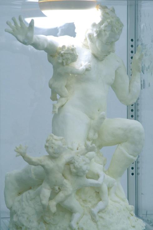 Food art, sculpture made out of butter, chocolate sculptures, sonja alhauser