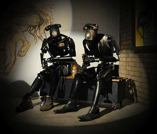 animated sculpture, robots, sculptures made from scrap, Rotterdam Art Fair 2012, collabcubed