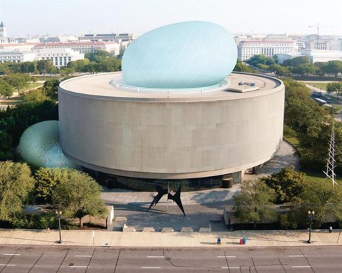 Temporary inflatable exhibit, peformance space, Hirshhorn Museum, Diller Scofidio and Renfro