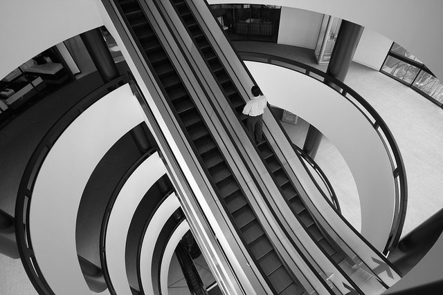 photography, escalators, cool images, stairs, escalator photos, flickr