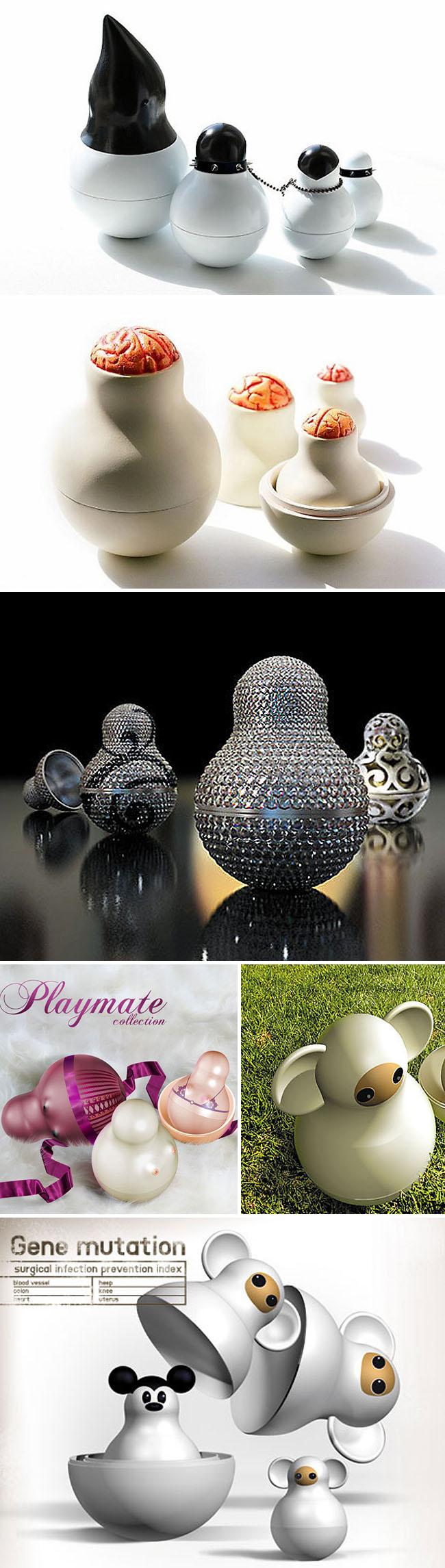 Matroyshka, Contemporary Russian Nesting Dolls, Toys, Batman, Russian Design, collabcubed
