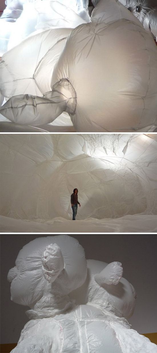 Cool installation, inflatable sculpture, Olga Diego, collabcubed