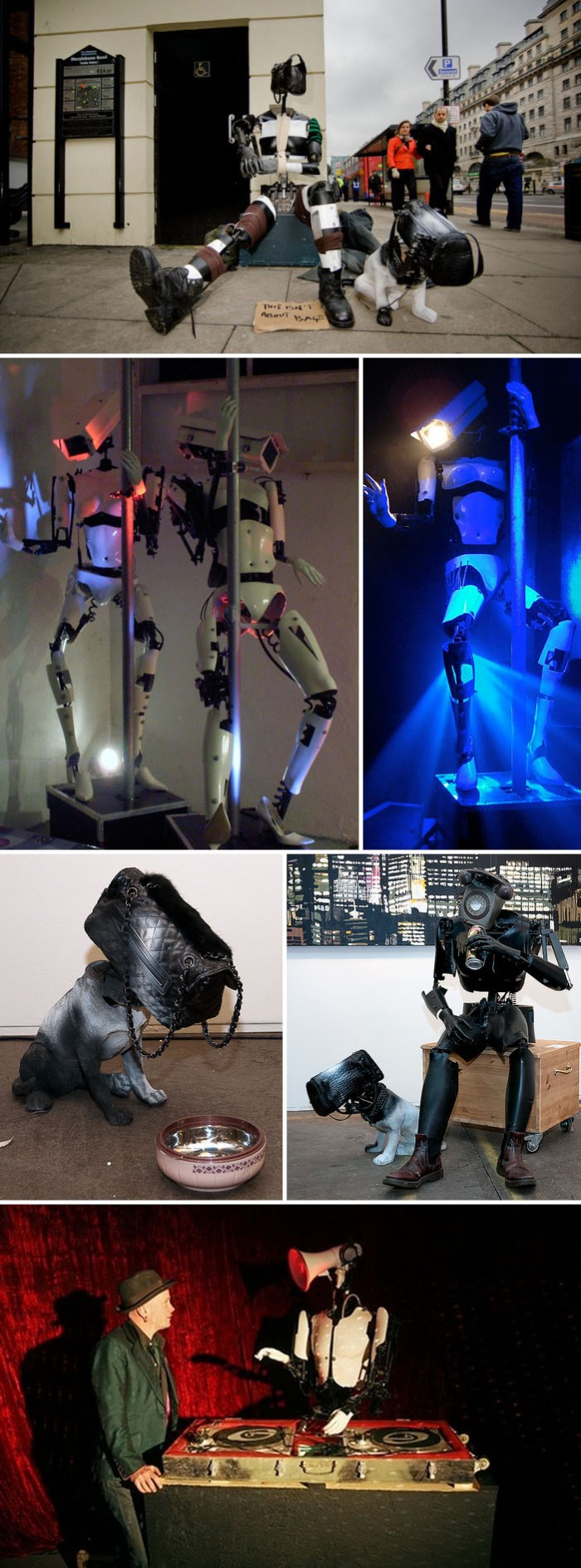 animated sculpture, sculpture made of scrap, junk, robots, rotterdam art fair 2012, collabcubed