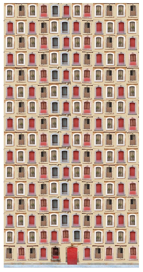 Architectural photo collage by Eka Sharashidze