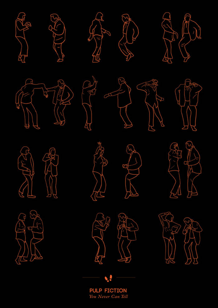 Illustration, Prints, Dance Steps, niege borges, fun posters, pulp fiction