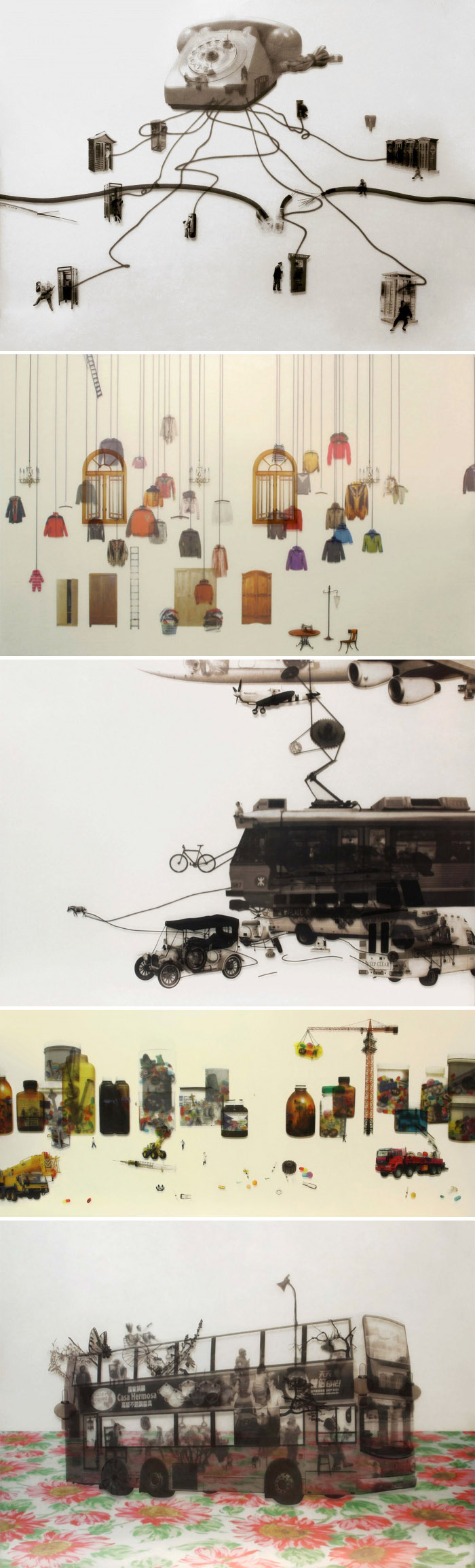 mixed media, Contemporary art from Hong Kong, Tang Kwok Hin, collage, collabcubed