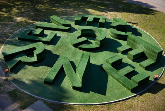 art installation, typography garden, School outdoor structure in Oldenzaal, The Netherlands