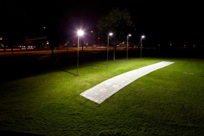 art installation, light installation, glow in the dark carpet, Glow Festival, Eindhoven