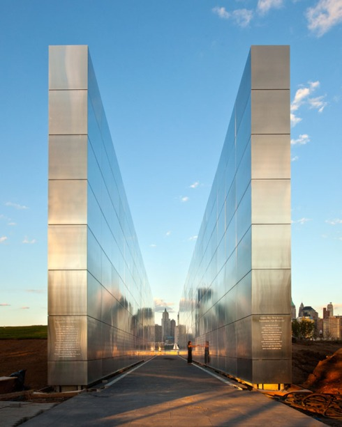 911 Memorial, New Jersey, Names, Frederic Schwartz Architects, Sculpture, landscape architecture