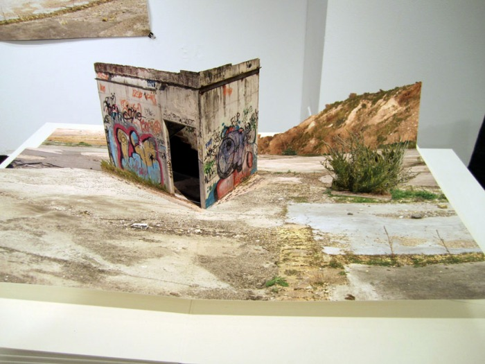Pop-Up Books, Photo collage, desolate landscapes, skateboard industrial landscapes, VoltaNY