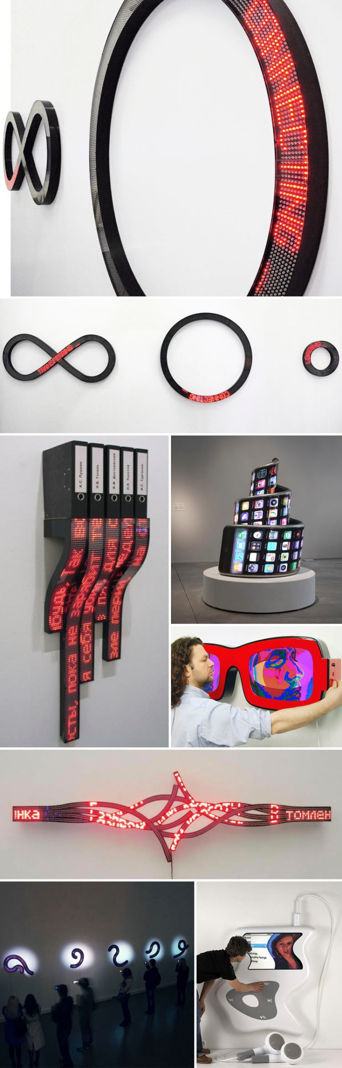 New Media Sculptures, interactive art and installations, Contemporary Russian Art, LEDs, collabcubed