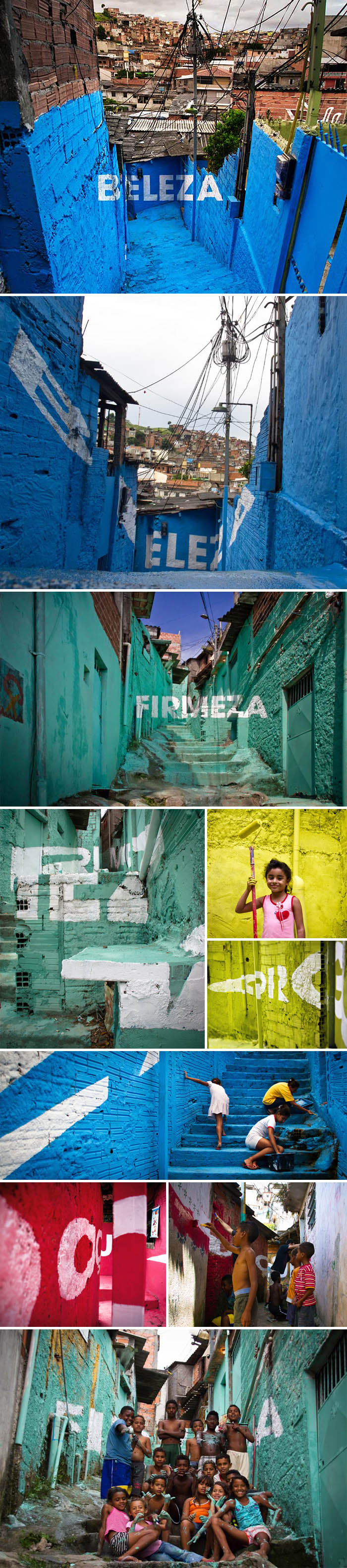 typography, street art, graffiti, Brazilian Favela, Brasilandia, Pride, Beauty, Sweetness,color, collabcubed