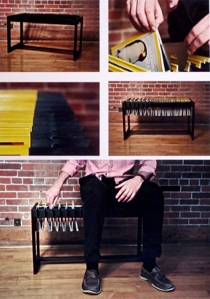 Brett Newman, Magazine Bench, RISD Senior ID Show 2012, furniture, industrial design