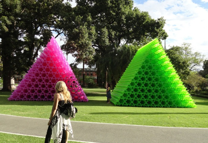 Contemporary Korean Pop Art, Perth Arts Festival 2012, Air Air Pink pyramid, Green Pyramid, Choi Jeong Hwa