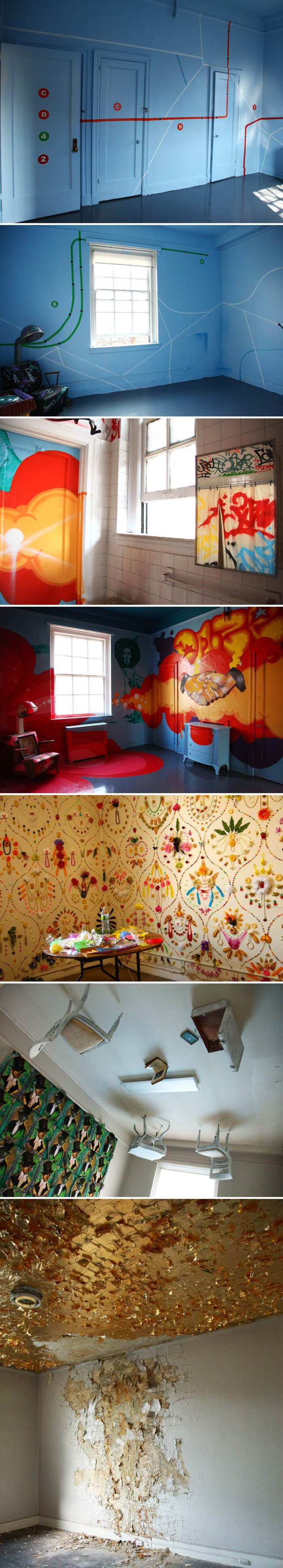 Bronx Senior Citizens Home revitalized with street artist's site-specific works, No Longer Empty, Andrew Freedman Home, Crash, How and Nosm, Daze, Cheryl Pope, Adam Parker Smith